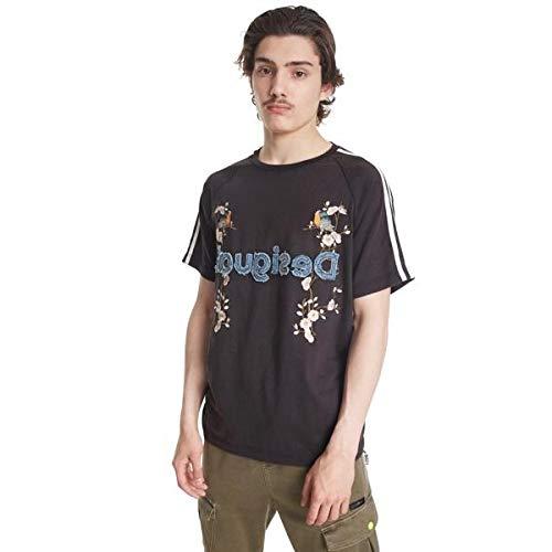 Desigual Camiseta Malcom Negra para Hombre