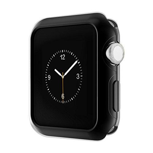 XIHAMA Compatibile per Apple Watch Series 2 Case, HOCO iWatch 2 TPU Custodia Protettiva per Copertura (42MM, Series 2 Black)