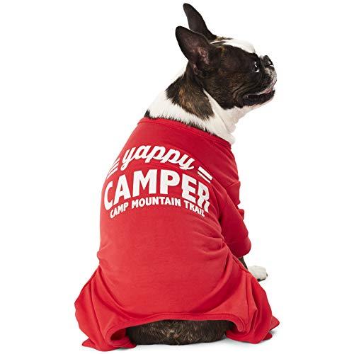 Hotel Doggy Hunde-Pyjama mit Camper, Baumwolle, Rot