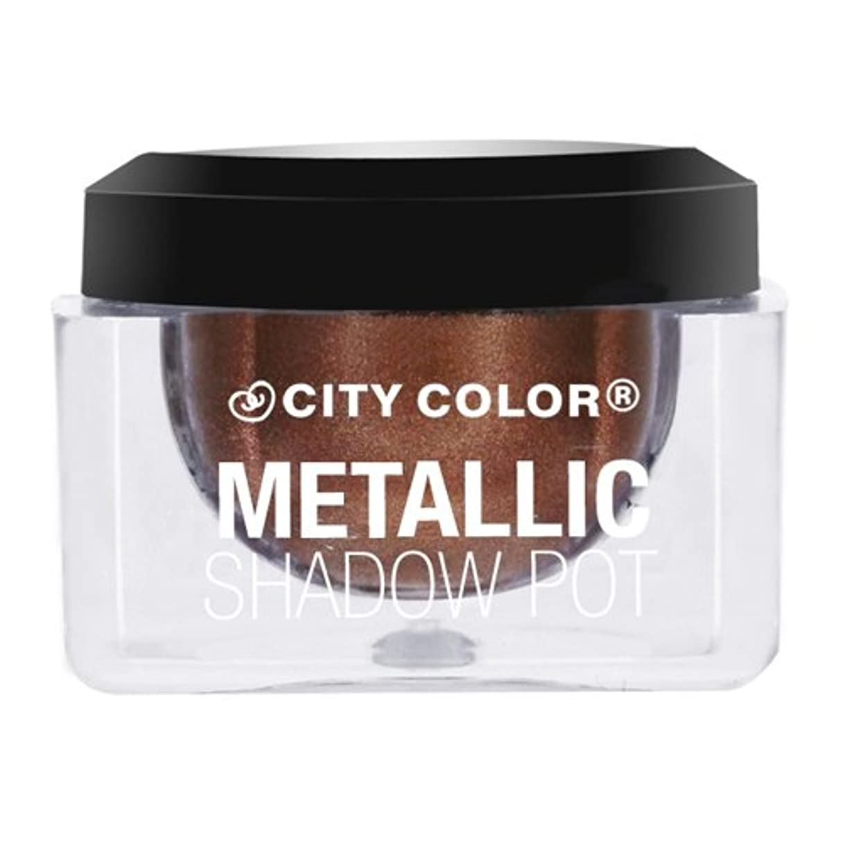 モール自己ピーク(3 Pack) CITY COLOR Metallic Shadow Pot - Cosmo (並行輸入品)