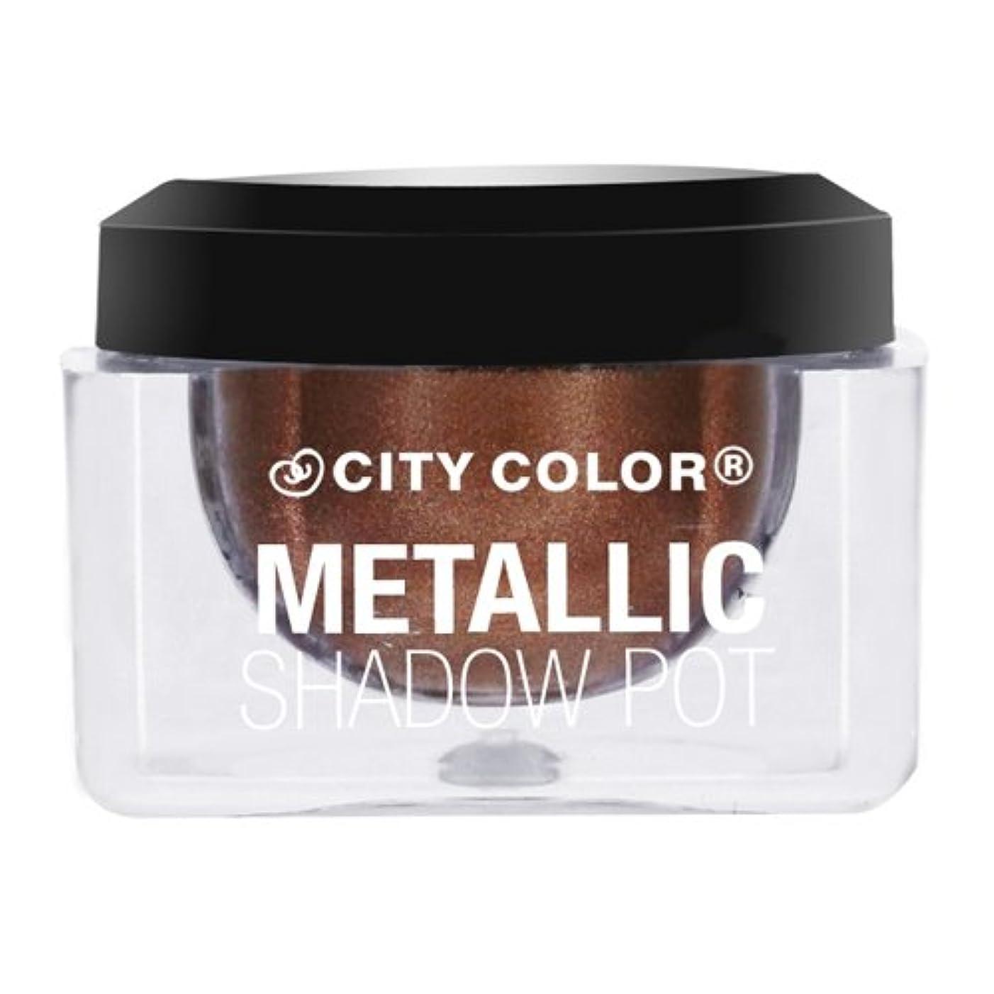 からに変化するドリル抵抗するCITY COLOR Metallic Shadow Pot - Cosmo (並行輸入品)