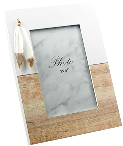 Cadre photo design laqué blanc mat Ressort – Trait Vernis Bois env. 16 x 21 cm pour photos de 10 x 15 cm