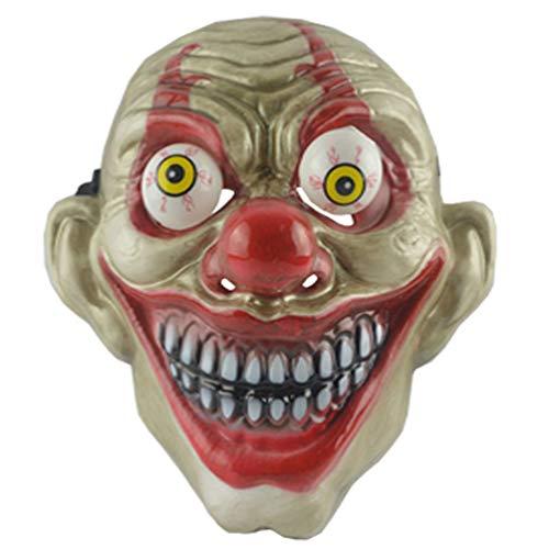 Látex Terror Payaso Halloween truco Máscaras Halloween Cara completa Mal para Halloween Fiesta Cosplay Accesorios Fotografía Props
