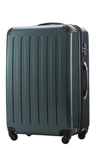 HAUPTSTADTKOFFER, Valigia Rigida Alex, TSA, Taglia 75 cm, 119 Litri, Colore Verde Forêt