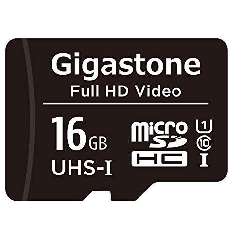 Gigastone 16GB MicroSDHC Speicherkarte + SD Adapter, für Action-Kamera, GoPro, Drohne und Tablet, Lesegeschwindigkeit bis zu 85MB/s, Full HD-Videoaufnahme, Micro SD Karte UHS-I Klasse 10 U1