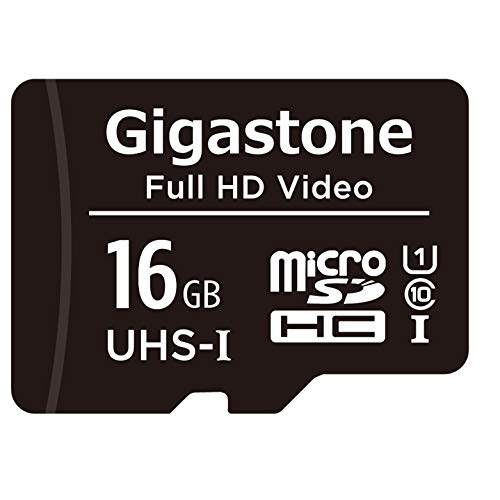 Gigastone 16 GB Micro SD-Karte, Full HD-Überwachungskamera Action Camera Drone Professional, 90 MB/s Micro SDXC UHS-I A1 Klasse 10