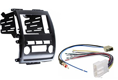 Aftermarket Radio Stereo Double Din Dash Kit w/Wire Harness & Antenna Adapter Compatible with Nissan Frontier Xterra 2009-2012