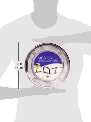 Beistle Movie Reel with Filmstrip Centerpiece, Multicolored