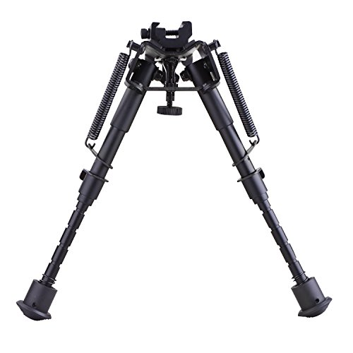 Sfeomi Zweibein Gewehr 15cm bis 23cm (6\'\' bis 9\'\') Bipod mit Adapter Swivel Rückkehr Ständer for Hunting Shooting Rifle Pistol Weapon