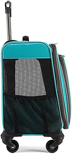 CDFCB PEQUEÑO Pet Carro DE Pet Portable Caso DE Pet Caso DE VENTAR DE Caso Adecuado para Cambio DE Viaje AL Aire DE Viaje-Azul