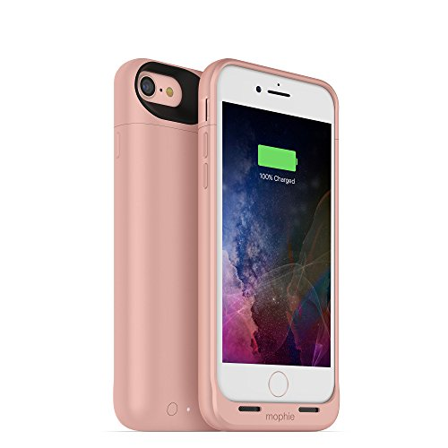 mophie 3782_JPA-IP7-RGLD Juice Pack Wireless - Charge Force Wireless Power - Wireless Charging Protective Battery Pack Case for Apple iPhone 8 and iPhone 7 - Rose Gold