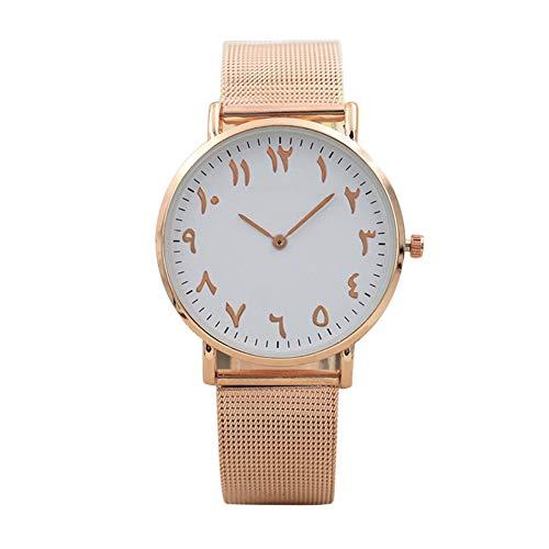 Eotifys Reloj Reloj Moda para Hombres y Mujeres Relojes de Pulsera de Acero Inoxidable de Cuarzo clásico Reloj Casual Simple