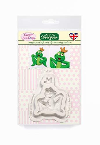 Moule en silicone motif grenouille pour décoration de gâteaux, travaux manuels, cupcakes, sugarcraft, bonbons, cartes et argile, approuvé par les aliments, fabriqué au Royaume-Uni, boutons en sucre