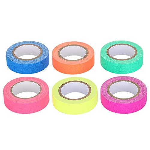 Cinta Luminosa, Cinta de Tela Fluorescente Duradera, Marca de Piso ecológica para encuadernación de Etiquetas para codificación de Colores