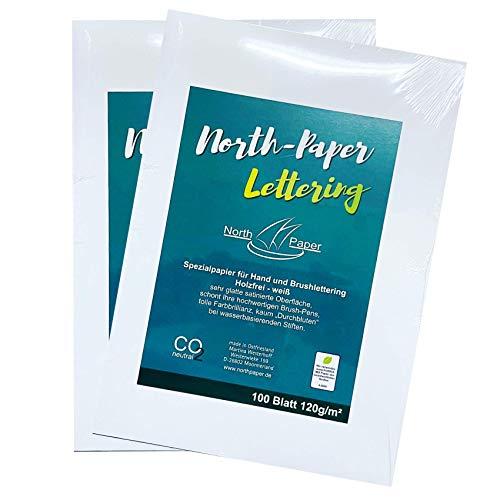 Northpaper Brush-Handl-Lettering-Papier-Paper 100 bis 300 Blatt A4 satiniertes Spezialpapier (200)