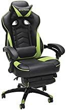 RESPAWN RSP-110 Racing Style Gaming, Reclining Chair with Footrest, Green
