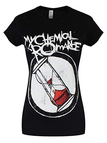 T Shirt Skinny Hourglass Combo My Chemical Romance (Nero) - Small