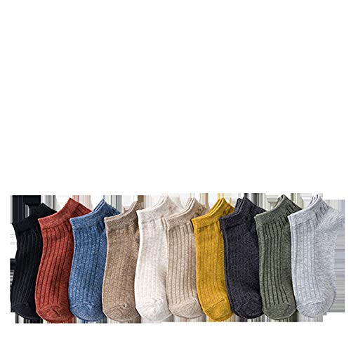 FENGYUN 10 stks effen kleur mannen en sokken dunne sectie ondiepe mond pure katoenen sokken Korea deodorant boot sokken