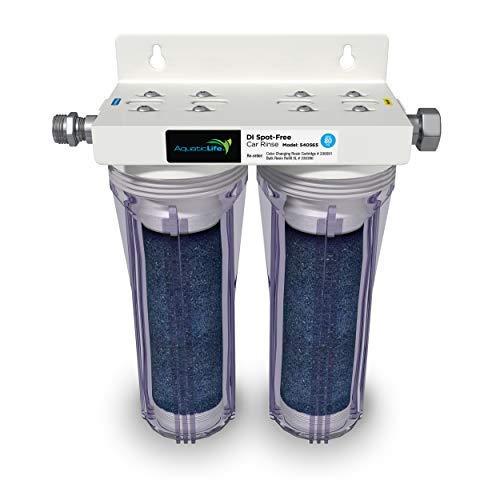 AQUATICLIFE Deionized Spot-Free Car Rinse Unit - Premium Water Deionizer for Car Washing - Spotless Car, RV, and Motorcycle Wash System