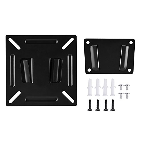 TV Wall Mount fit for Most 12-24inch TVs, LCD LED Monitor,PC Screen,Plasma Flat Screen TVs,TV-Wall Mounted Stand Bracket Holder for TVs, Easy to Install, High Cost Performance