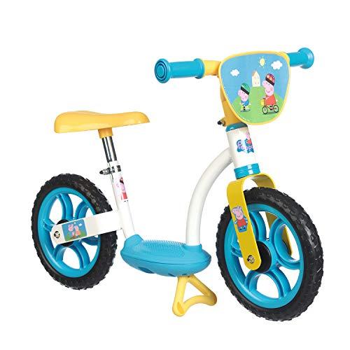 Smoby- Peppa Pig Bicicletta Senza Pedali, Colore Altro, Norme, 7600770107