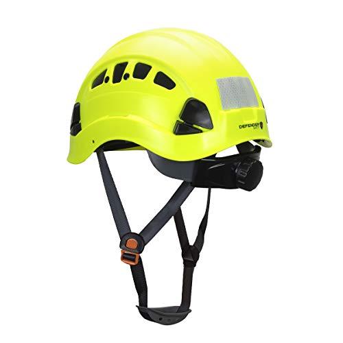 Defender Safety H1-CH Safety Helmet Hard Hat ANSI Z89.1 (Safety Yellow)