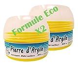 BioVeg5 | Pierre d'Argile 1 kg | Pierre Blanche Naturelle de Nettoyage et son Éponge Épaisse | Biodégradable et Respectueuse de la Peau | Senteur Citron