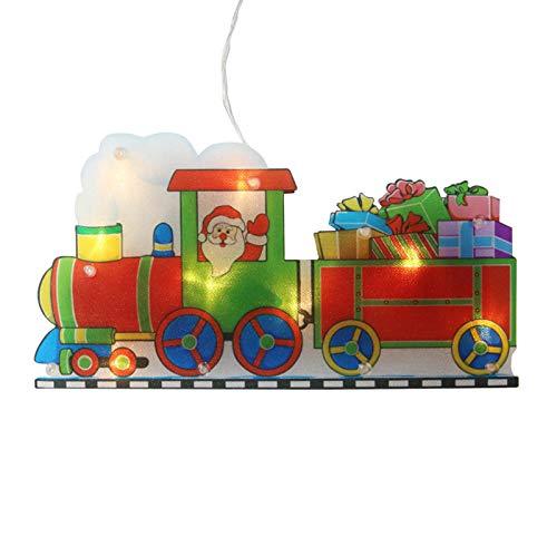 Decoración colgante de Navidad LED, luces colgantes de ventosa de ventana LED...