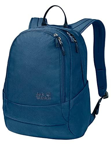 Jack Wolfskin 2007681 Perfect Day, bequemer Rucksack mit breiten Gurten, DIN-A4-tauglicher Tagesrucksack, Backpack mit guter Lastenverteilung für Alltag und Freizeit, poseidon blue, ONE SIZE