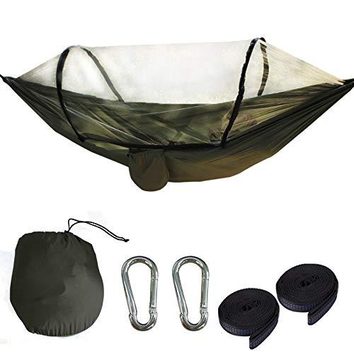 Outdoor Hängematte mit Moskitonetz - Robustes, ultraleichtes Hängezelt perfekt geeignet für Camping, Outdoor & Survival (Hängematte 7)