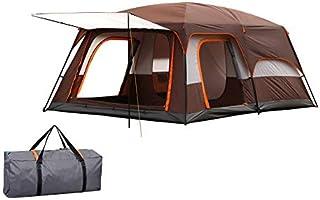 CampGear 日本正規品 8人用 2ルーム 大型 折りたたみ式テント 撥水加工 防水 紫外線防止 通気性 登山 軽量・コンパクト設計 簡単 設営 ブラウン