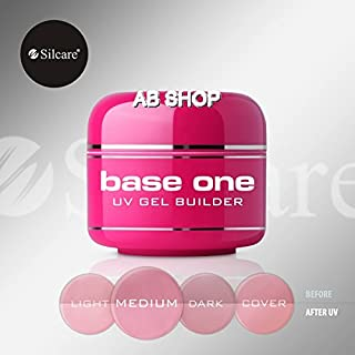 Base One Cover Medium 30g UV Gel Nails Camouflage Builder File Off Gel Silcare