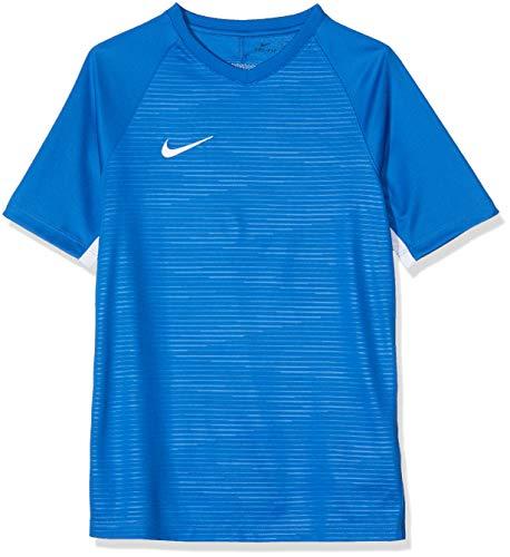Nike Y NK Dry K Tiempo Premier Ss Jsy T-shirt, Niños, Royal Blue/ Royal Blue/ White/ White, M