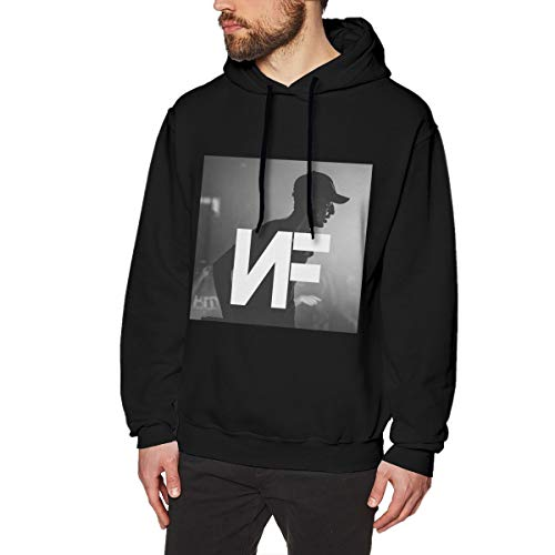 Lucyhu Herren Kapuzenpullover Nf Rapper Logo Pullover Hoodie Langarm Black L Sweatshirt Kapuze Für Männer Bekleidung