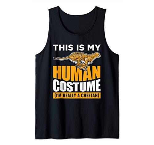 This Is My Human Disfraz de guepardo Camiseta sin Mangas