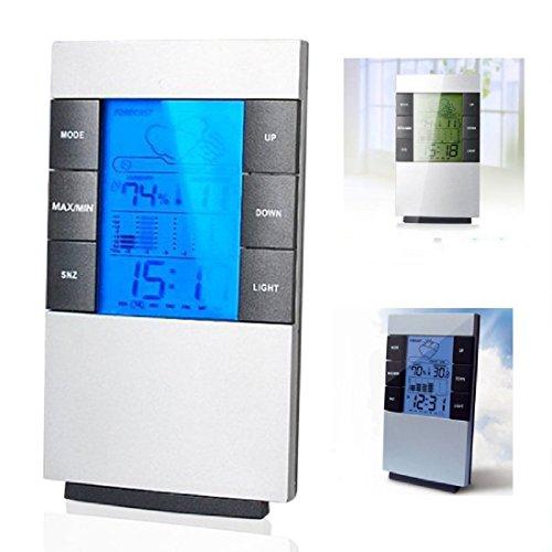 TOOGOO LCD Humidité Température Hygromètre à Mètre Salle Intérieur Thermomètre Horloge