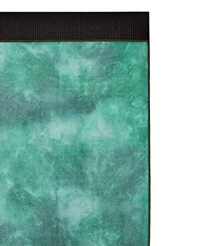 Manduka eQua - Toalla de yoga (alta absorción), color verde