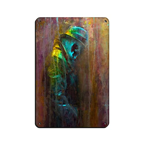 Cartel retro de metal de Watchmen Rorschach 9, estilo retro, con pintura de hierro, bar, cueva, café, familia, garaje, decoración de pared, 20 x 30 cm