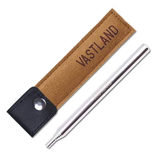VASTLAND(ヴァストランド) ふいご 火吹き棒 火起こし カラビナ収納ケース付き 伸縮6段式 キャラメルブラウン