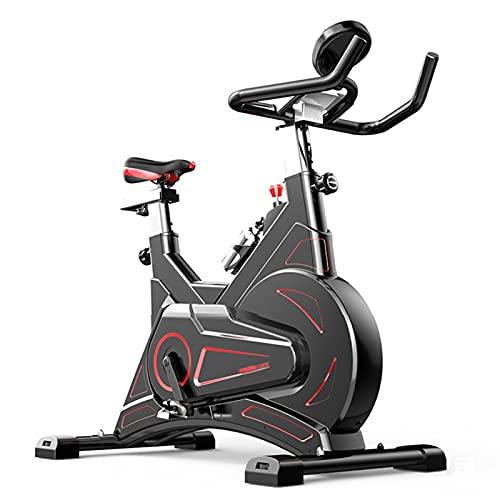HMBB Bicicletas estáticas y de Spinning, Bicicletas estáticas, Ciclismo Indoor, manillares Ajustables Asiento Resistencia, Inteligente aplicación de Control electromagnético Bicicleta de Spinning for
