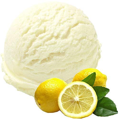 1 Kg Zitrone Geschmack Eispulver VEGAN - OHNE ZUCKER - LAKTOSEFREI - GLUTENFREI - FETTARM, auch für Diabetiker Milcheis Softeispulver Speiseeispulver Gino Gelati