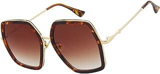 LIUSKAI Fashion Hexagon Sunglasses Women Gradient Lens Sun Glasses for Women Square Oversized Shades Female Uv