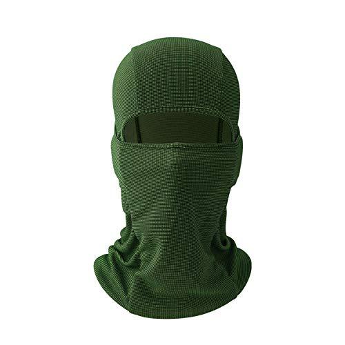 AYPOW Balaclava mascarilla Facial, Suave Transpirable a Prueba de Viento Multiusos Motocicleta Ciclismo Cuello Calentador máscara de táctica, Sombrero para Motocicleta, tamaño elástico Universal