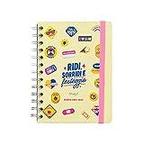 Mr. Wonderful Diario scolastico classico piccolo 2021-2022 Vista settimanale - Ridi, sorridi e festeggia, Multicolore