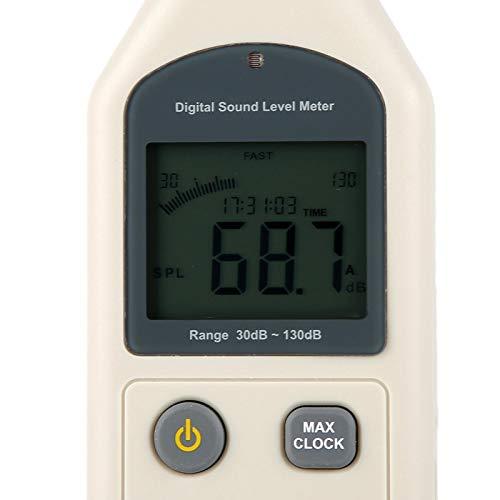 Medidor de nivel de sonido, probador de presión de sonido, dispositivo de medición de ruido portátil para verificar el control de monitoreo