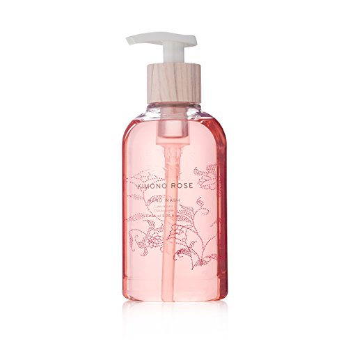 Thymes - Kimono Rose Hand Wash with Pump - Hydrating Liquid Hand Soap with Soft Vanilla Rose Scent - 8.25 oz