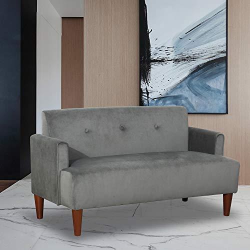 Canfly Kindersofa 2 Sitzer, Modernes Sofa Scandinavian Design Schlafcouch mit abnehmbaren Kissen,Polstermöbel für kleine Wohnungen (grau Blau)