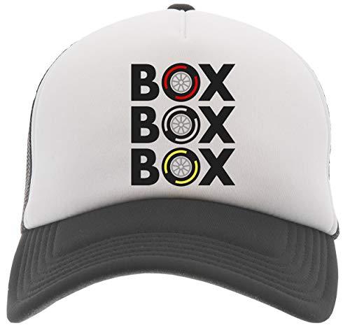 Delavi Box Box Box Tyre Compound Baseball Trucker Kappe Schwarz Black Cap