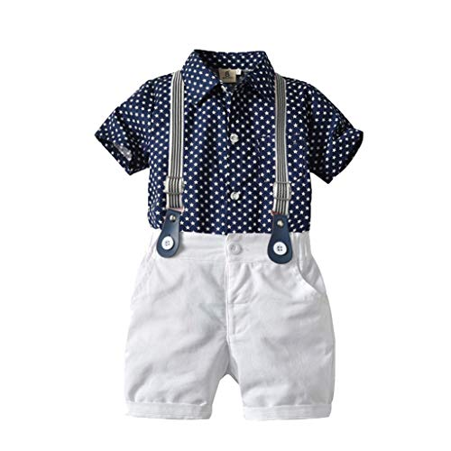 Zylione Jungen Kleidung Set Kinder Baby Kurzarm Gentleman Star Print Shirt Shirt + Einfarbige Hosen + Fliege Dreiteiligen Anzug