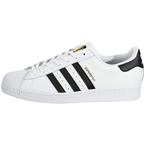 adidas Superstar, Scarpe da Ginnastica Unisex Adulto, Bianco (Ftwr White/Core Black/Ftwr White), 45 1/3 EU